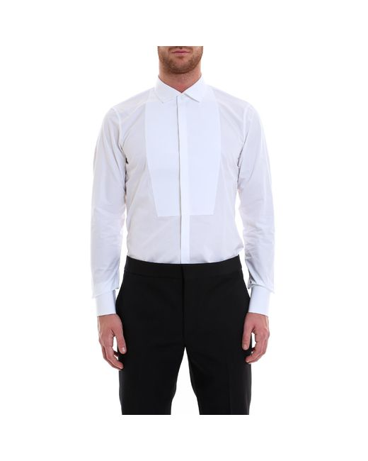 DSquared² - White Classic Tuxedo Shirt for Men - Lyst