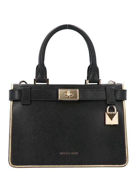 aff18537c4a627 MICHAEL Michael Kors Tatiana Tote Bag in Black - Save 23% - Lyst