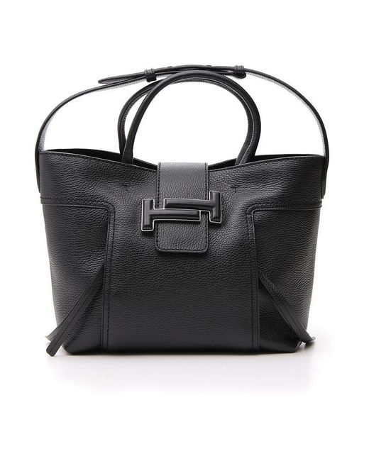 1a8c823ea9 Tod'S Double T Tote Bag in Black - Lyst