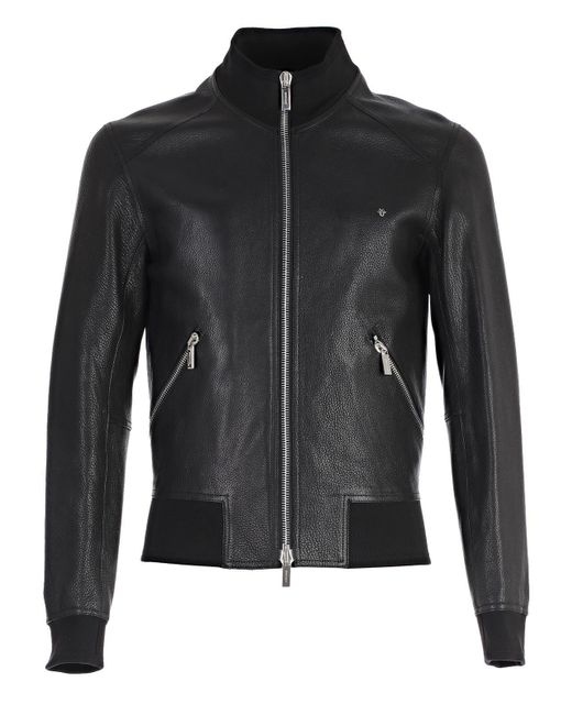 Dior Homme - Black Zipped Leather Jacket for Men - Lyst