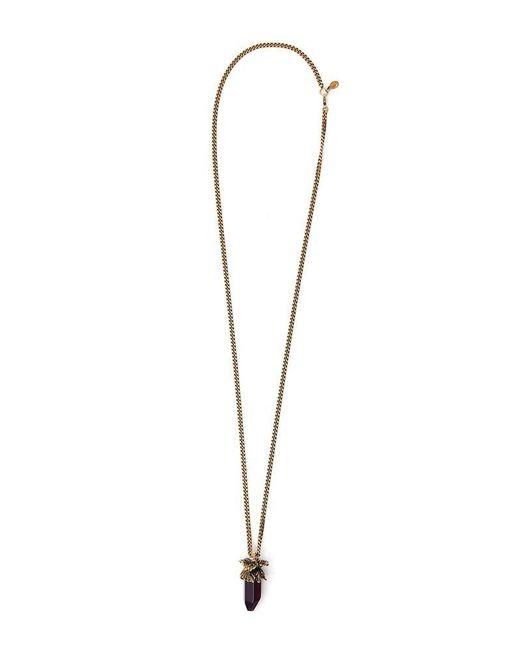 Alexander McQueen - Purple Pendant Chain Necklace - Lyst