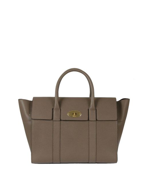 Mulberry - Brown Flap Cover Tote Bag - Lyst