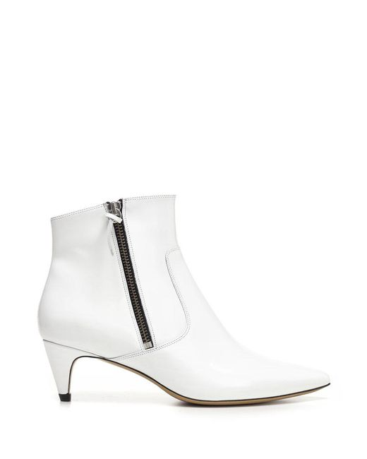 Isabel Marant - White Derby Ankle Boots - Lyst