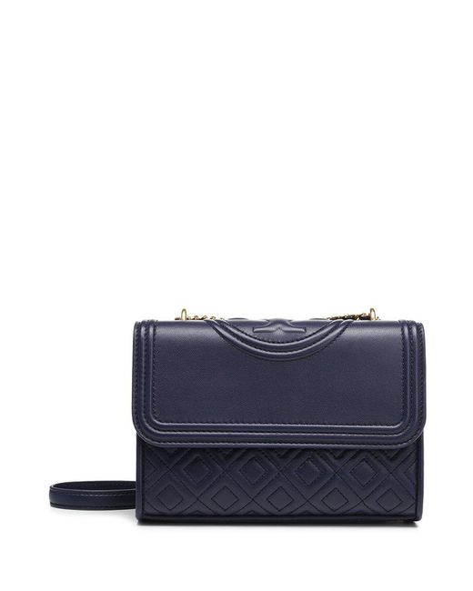 Tory Burch - Blue Small Fleming Shoulder Bag - Lyst