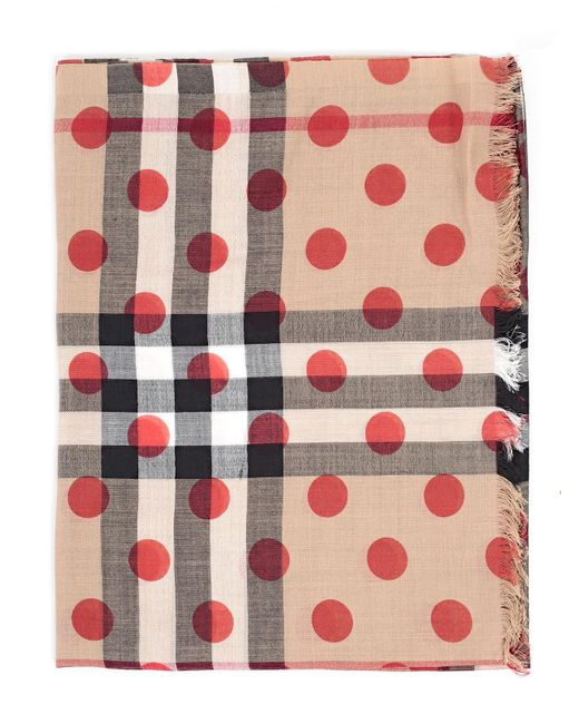 Burberry - Multicolor Polka Dot House Check Scarf - Lyst