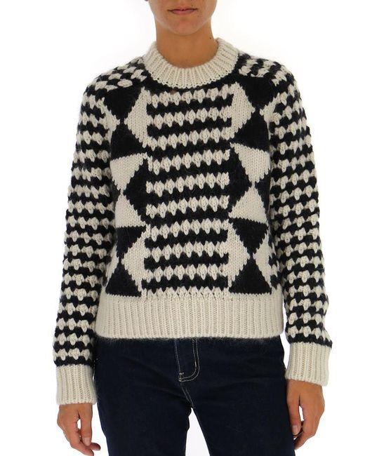 Saint Laurent Black Loose Knit Sweater