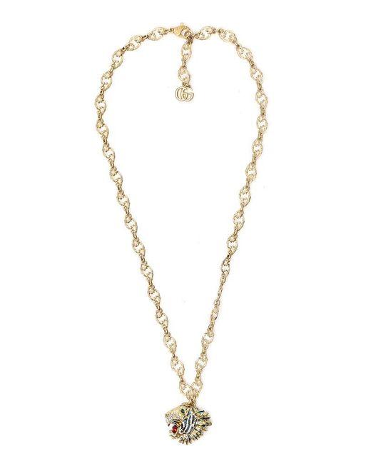 Gucci Metallic Rajah Necklace