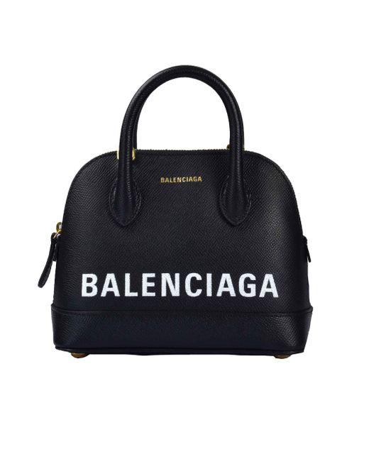 Balenciaga - Black Xs Ville Textured Leather Bag - Lyst