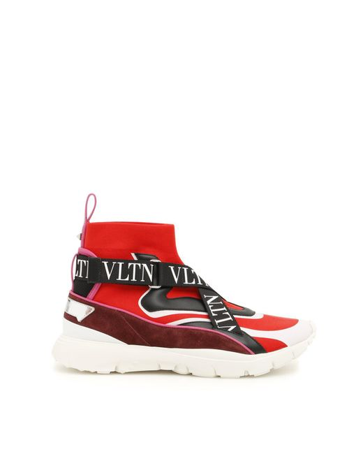 35a1c791a4364 Valentino Garavani Vltn Heroes Sneakers in Red - Save 50% - Lyst