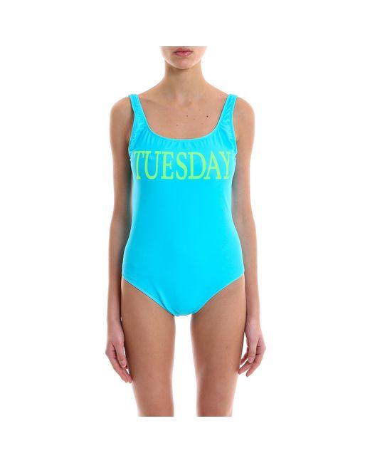 Alberta Ferretti - Blue Rainbow Week Tuesday Swimsuit - Lyst