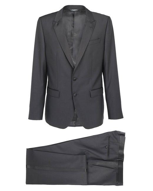 Dolce & Gabbana Black Three-piece Suit for men