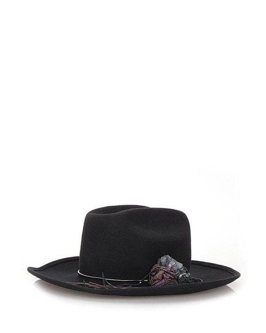 Golden Goose Deluxe Brand - Black Tango Paris Flower Hat - Lyst