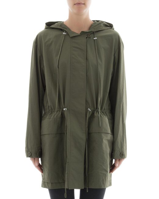 Theory - Green Zipped Military Jacket - Lyst