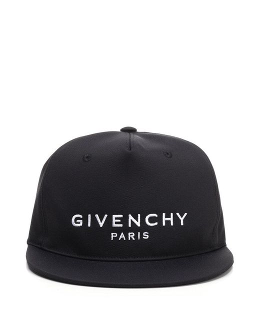 0c98ed5a06a Lyst - Givenchy Flat Brim Logo Ball Cap - in Black for Men - Save ...
