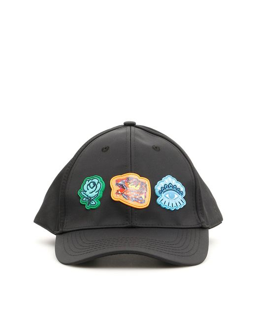 KENZO - Black Go Tigers Capsule Logo Patch Cap - Lyst