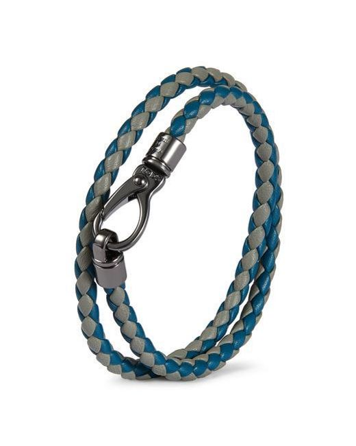 Tod's - Blue My Colours Braided Bracelet - Lyst