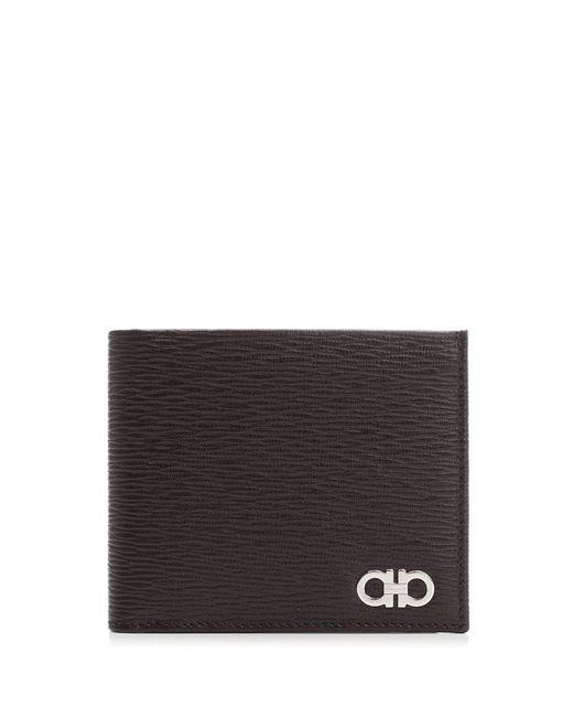 Ferragamo - Black Gancio Bi-fold Wallet for Men - Lyst