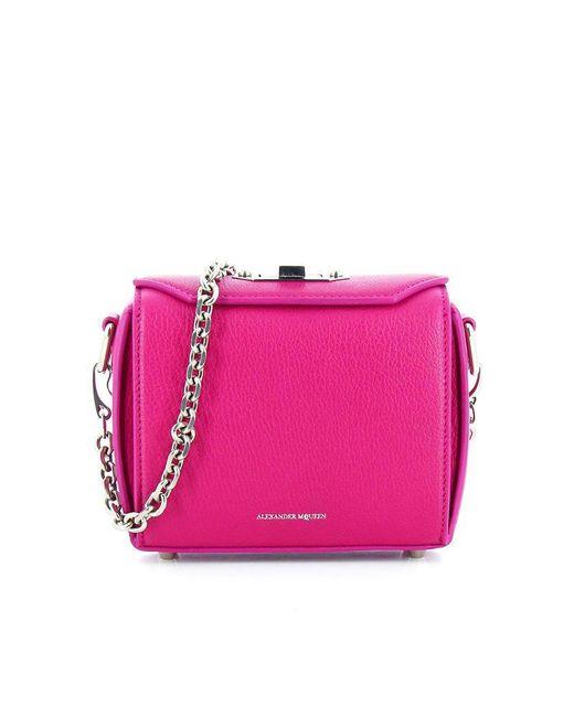 Alexander McQueen - Pink Box Chain Bag - Lyst