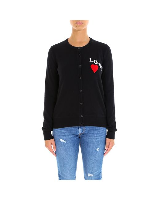 Dolce & Gabbana - Black Love Embroidered Button Cardigan - Lyst