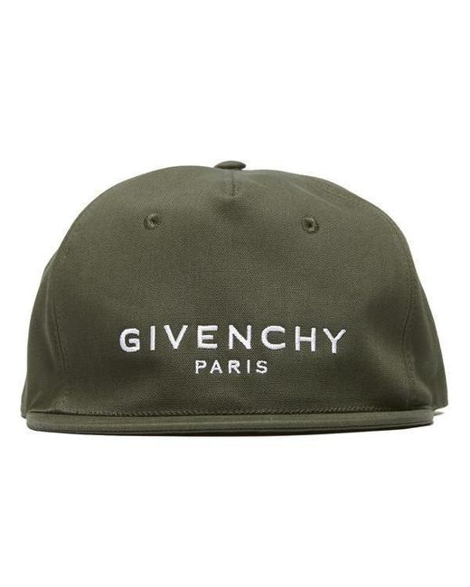 91b5fa75836 Givenchy Embroidered Brand Logo Baseball Cap in Green for Men - Save ...