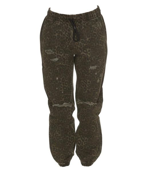 Alexander Wang - Green Leopard Print Elasticated Waist Pants - Lyst