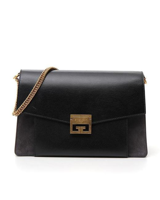 Givenchy - Black Paneled Chain Shoulder Bag - Lyst