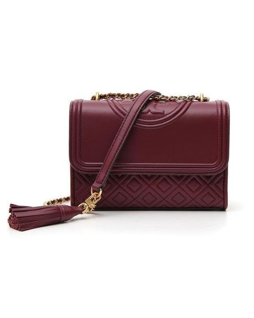 546c2d5a2b058 Tory Burch Small Fleming Shoulder Bag in Red - Lyst