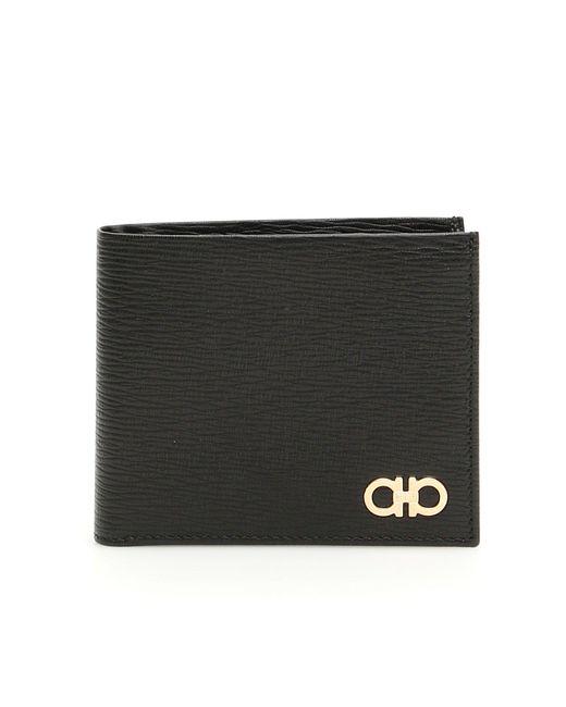 Ferragamo - Black Bifold Logo Wallet for Men - Lyst