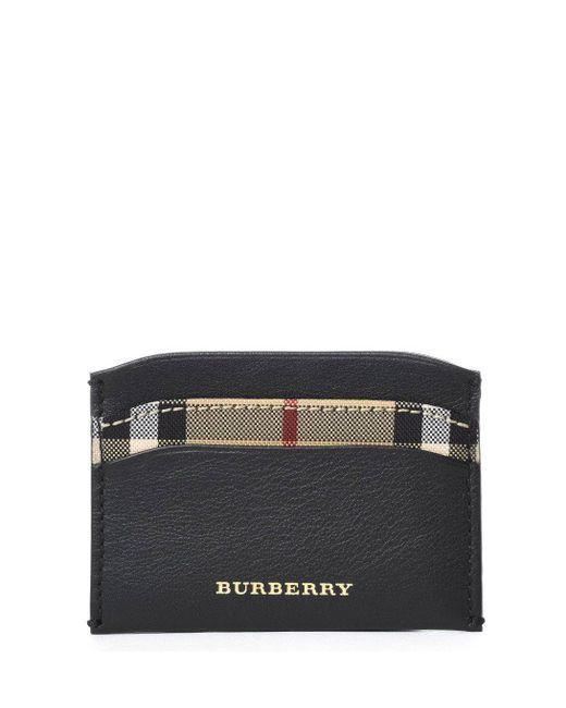 Burberry - Black Horseferry Check Cardholder for Men - Lyst
