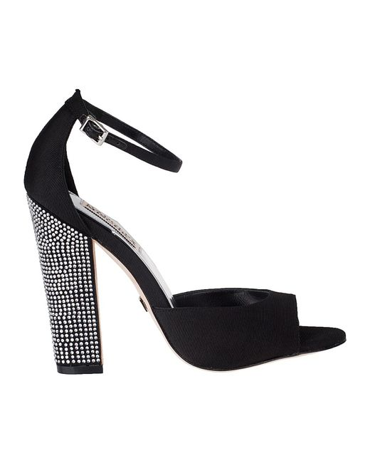 Badgley Mischka | Wynter Evening Sandal Black Fabric | Lyst