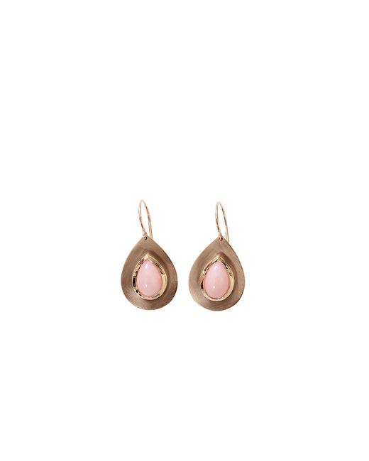 Irene Neuwirth   Flat Gold Pink Opal Earrings   Lyst