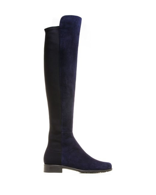 Stuart Weitzman | Blue Lowland Suede Over-The-Knee Boots | Lyst