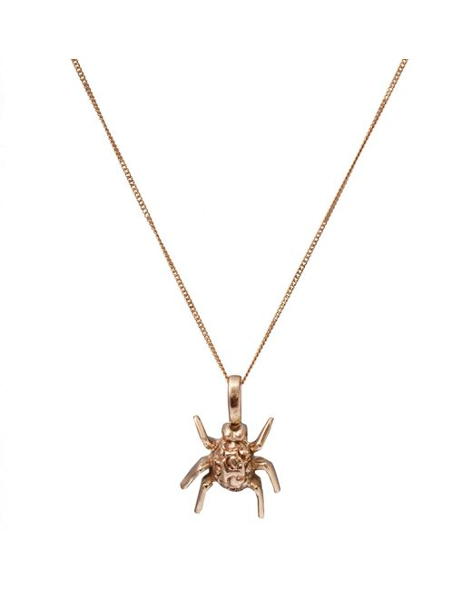 Edge Only | Metallic Spotted Bug Pendant Gold | Lyst