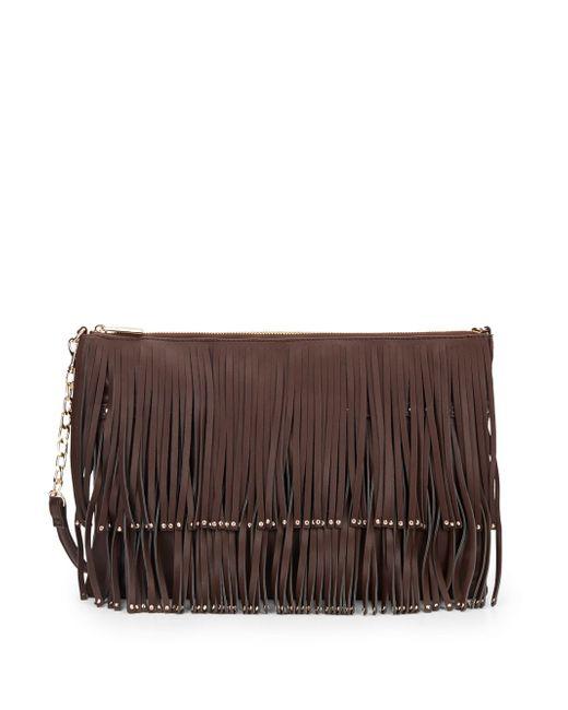 Deux Lux   Brown Mae Fringe Crossbody Bag   Lyst