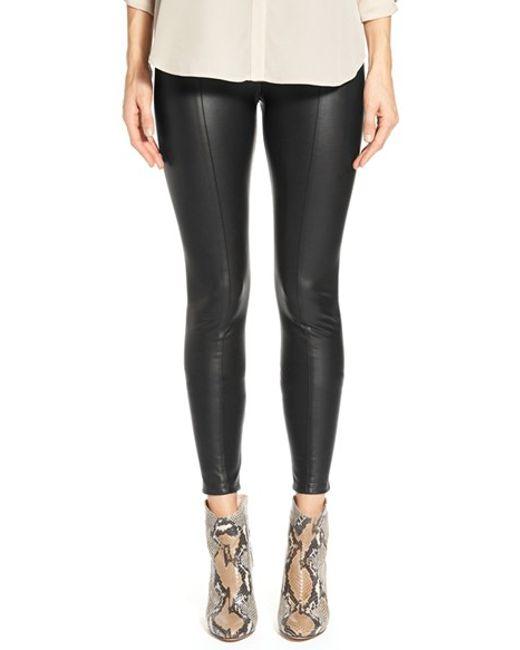 Lyssé | Black High Waist Faux Leather Leggings | Lyst