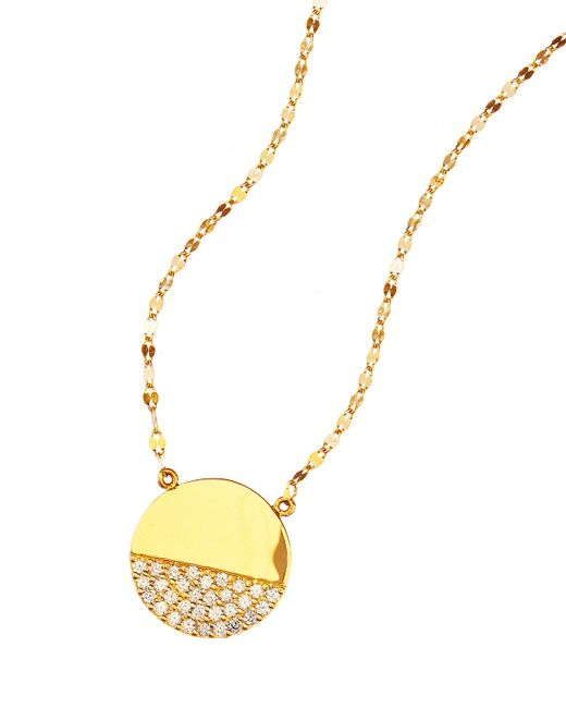 Lana Jewelry   Metallic 14k Illusion Disc Diamond Pendant Necklace   Lyst