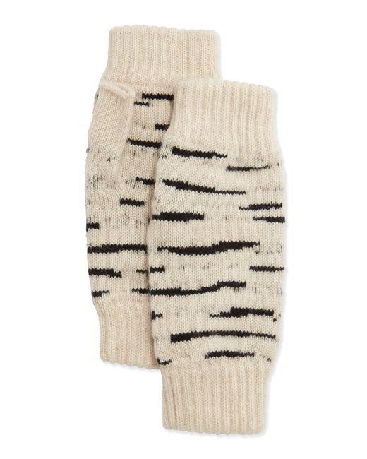 Rosie Sugden   Natural Cashmere Tiger-stripe Fingerless Gloves   Lyst