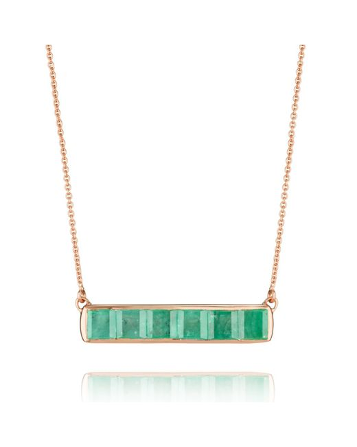 Monica Vinader | Green Baja Precious Necklace | Lyst