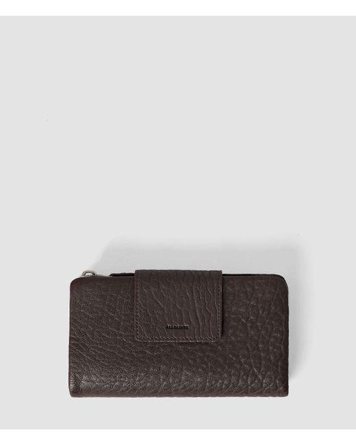 AllSaints | Purple Paradise Japanese Wallet | Lyst