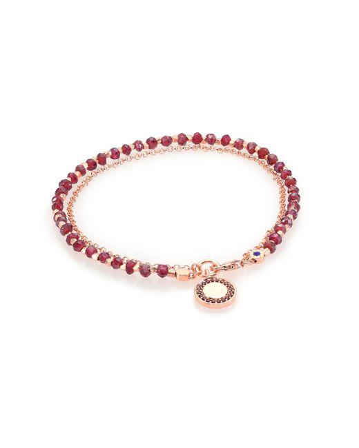 Astley Clarke | Pink Biography Garnet & Red Spinel Cosmos Beaded Friendship Bracelet | Lyst