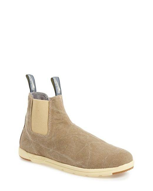 blundstone footwear 39 1420 39 canvas chelsea boot in beige. Black Bedroom Furniture Sets. Home Design Ideas