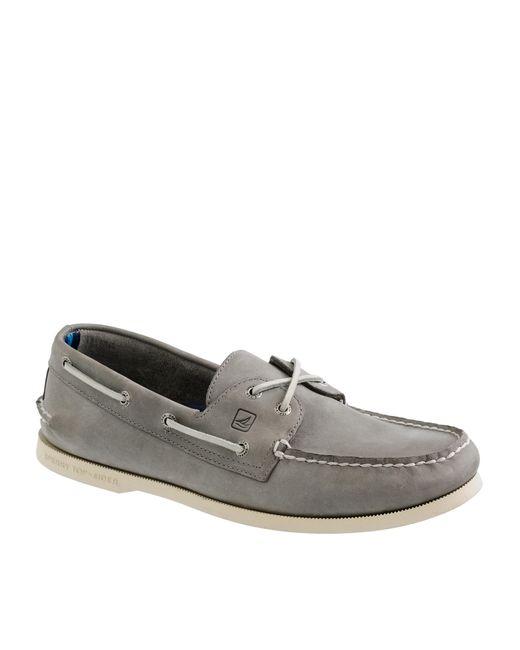 J.Crew | Metallic Sperry Authentic Original 2-eye Broken-in Boat Shoes for Men | Lyst