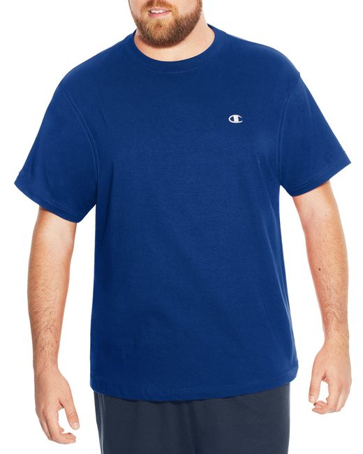 Champion - Blue Big & Tall Short Sleeve Jersey Tee for Men - Lyst