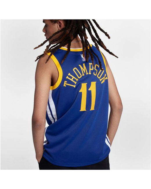 best website c0f9b 21770 Men's Blue Klay Thompson Nba Swingman Jersey