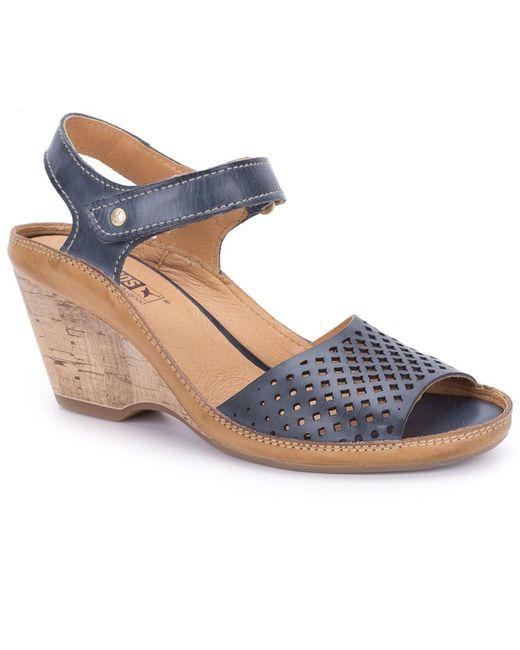 Pikolinos | Blue Capri Womens Wedge Heel Sandals | Lyst