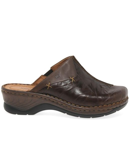a185bc12 ... Josef Seibel - Brown Catalonia Cerys Womens Leather Clogs - Lyst ...