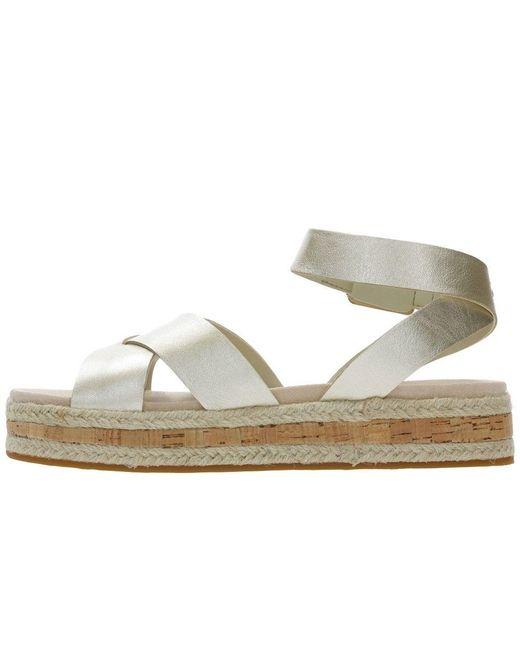 d276e17e649b ... Clarks - Botanic Poppy Womens Metallic Espadrille Sandals - Lyst ...