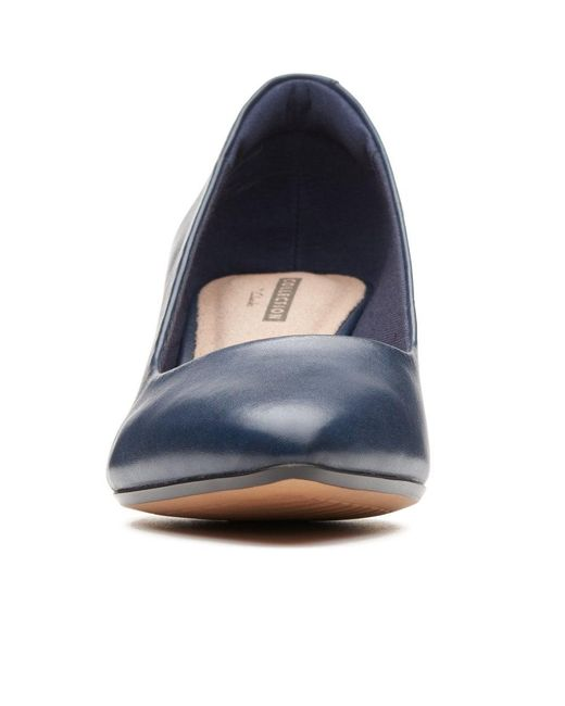b2a895f38949 ... Clarks - Blue Linvale Jerica Womens Pointed Leather Court Shoes - Lyst  ...