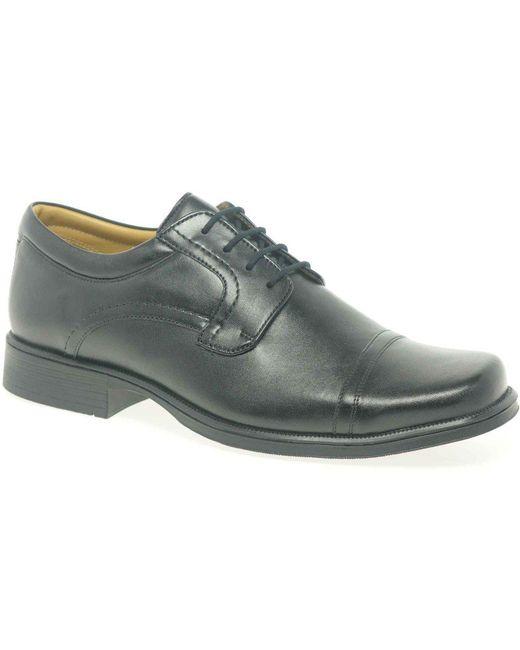 Clarks Black Hoist Cap Mens Formal Lace Up Shoes for men