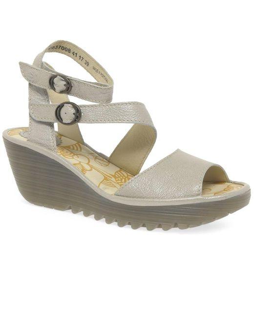 Metallic Yisk Womens Wedge Heel Sandals